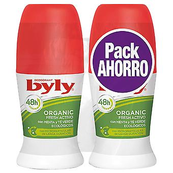 Byly Active Organic Deodorant Fresh 2 pieces