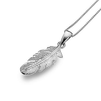 Sterling Silver Pendant Necklace - Origins Feather