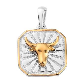 TJC Emerald Zodiac Pendant for Women Sterling Silver 0.02ct