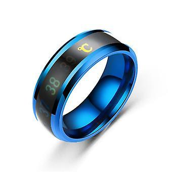 1pc anillo de temperatura titanio acero acero emoción sensación sensible anillo hombres