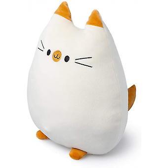 kissen Sweet Kitty 32 x 20 cm Polyester orange/weiß