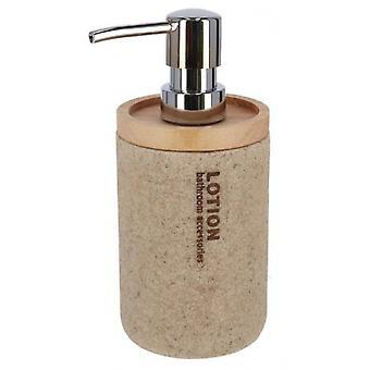 soap dispenser Earth 7.5 x 17 cm resin light brown