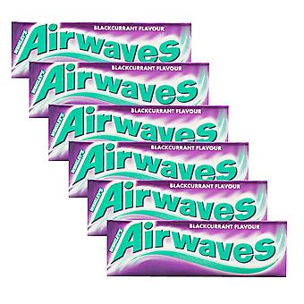 6 x 10 pieces Blackcurrant Menthol  Sugarfree Chewing Gum Fruity Bubble Oral Care Clean Teeth