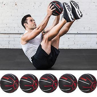 Lifeline USA Fitness Exercise Training Medicine Ball - Musta/Punainen