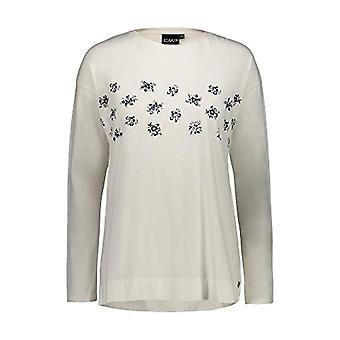 CMP T-Shirt Stretch in 95% Cotton 5% Elastane, Woman, Offwhite, 40, Offwhite