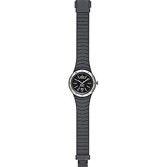 HIP HOP men's watch METAL SOLAR black dial and silicone strap, gray metal, movement ONLY TIME - 3H QUARTZ