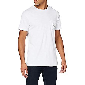 سوبردري فائض جيب تي شيرت، الأبيض الرائعة، XL الرجال