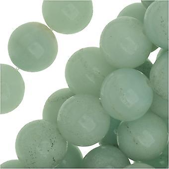 Ædelsten Perler, Amazonite, Runde 8mm, 15,5 tommer Strand, Pale Aqua Green