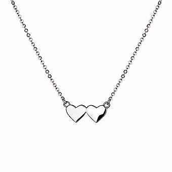 With Love - Connected Hearts Icons Necklace - 40cm +3cm extender - Silver - Jewellery Gifts for Women from Lu Bella