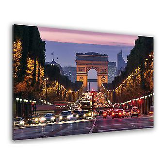 Tableau urbain perspective arc de triomphe - 80x50 cm