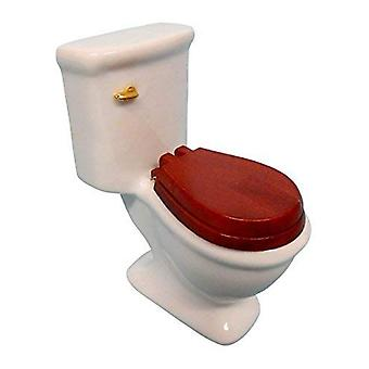 Dockor Hus Vanligt Vitt Porslin Toalett Miniatyr 1:12 Skala Badrumsmöbler
