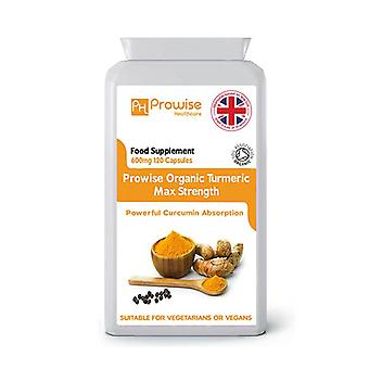 Organic Turmeric with Black Pepper 600mg | Suitable For Vegetarians & Vegans by Prowise