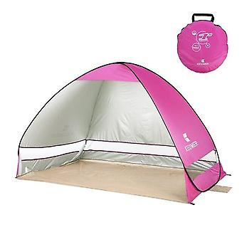 200*120*130cm Instant Pop Up Beach Tent Automatic Tent Portable Outdoor Camping Tent(pink)