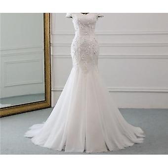 New Style Beautiful Three-dimensional Flower Lace Wedding Dress