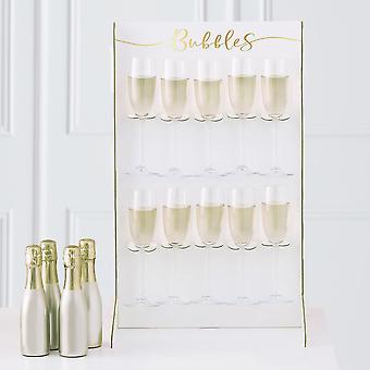 Prosecco Drinks Wandhouder   Gouden bruiloft verjaardag Kerstfeest Middelpunt