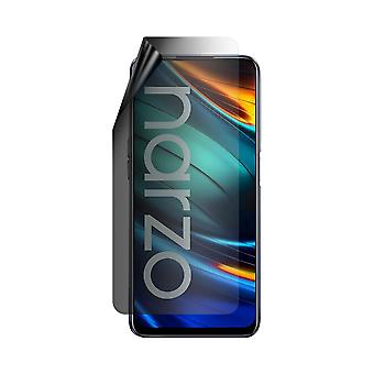 Celicious Privacy Lite 2-Way Anti-Glare Anti-Spy Filter Screen Protector Film Compatible with Realme Narzo 20 Pro