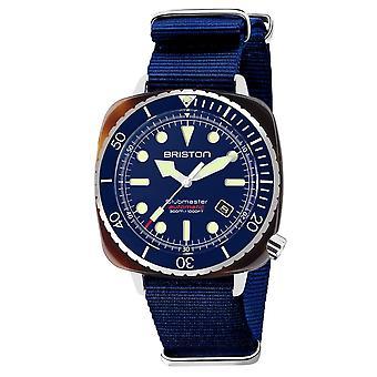 Briston 21644.SA.T.15.NNB Clubmaster Diver Pro Acetate Blue Strap Wristwatch
