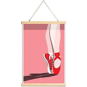 JUNIQE Print - Backup Plans - Dancing Poster in Pink