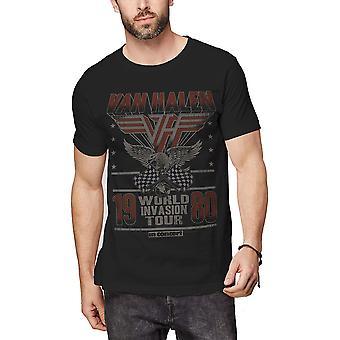 Van Halen - Invasion Tour '80 Men's Small T-Shirt - Black