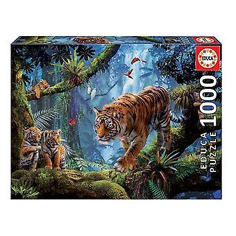 Puzzle Tigres en el Árbol Educa (1000 pcs)