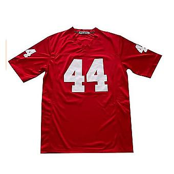 Forrest Gump #44 Men's Football Jerseys Stitched Letters And Numbers Movie Jerseys Red S-3xl