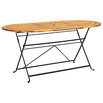 vidaXL Garden Table 160x85x74 cm Acacia Solid Wood Oval