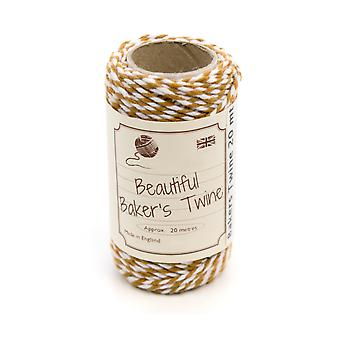 20m Sahara Sand Natural Bakers Twine for Crafts & Gift Wrapping