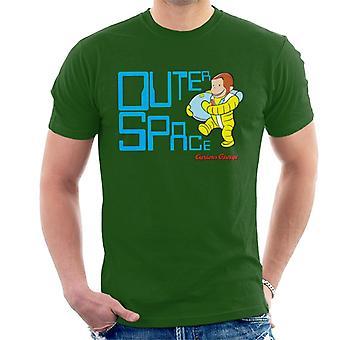 Curiosa maglietta da uomo George Outer Space