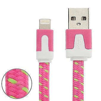 2m Gewebter Stil 8 Pin zu USB Daten / Ladekabel, für iPhone X / iPhone 8 & 8 Plus / iPhone