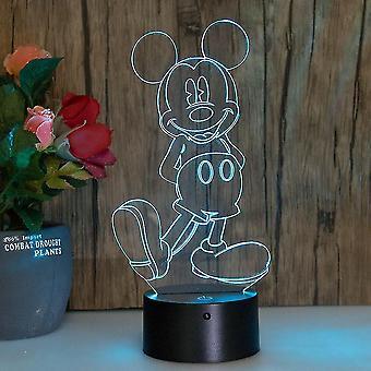 Mickey Mouse 3d Led Nachtlicht Kinder Schlafzimmer Tischlampe