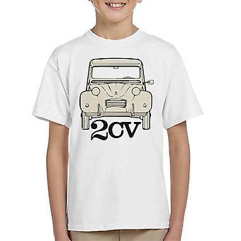 Citroen 2CV för light kid's t-shirt