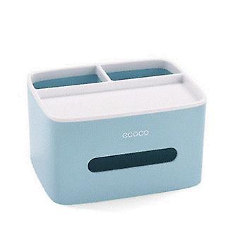 Desktop-Tissue-Papierservietten Halter Büroartikel Aufbewahrungskoffer Fernbedienung Box für Home Kitchen