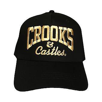 Crooks & Castles OG Core logotyp Lux Snapback Cap Svart
