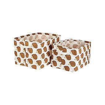 Sass & Belle Woodland Hedgehog (zestaw 2) Płócienne kosze do przechowywania