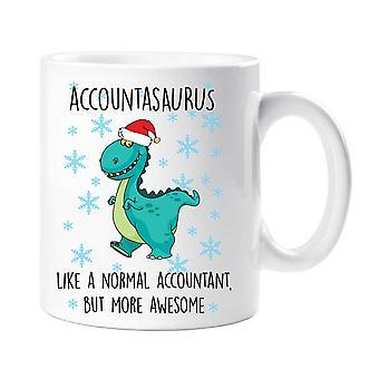 Christmas Accountasaurus Mug