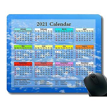 Keyboard mouse wrist rests 220x180x3 gaming mouse pad 2021 year calendar with holiday satellite space spaceship station