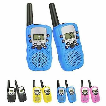 Intercoms t388 long range kids walky talky 1 pair blue color