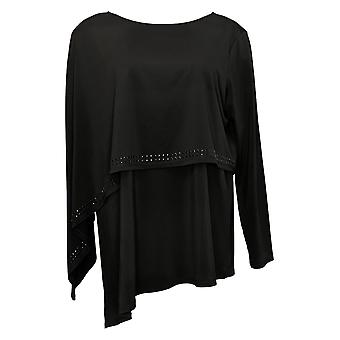 Antthony Women's Top Long Sleeve Double Layer Black 716294
