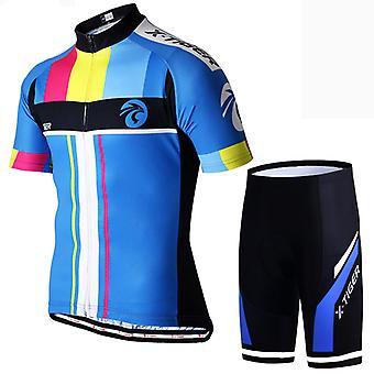 X-tiger Sommer Mænds Cykling Jersey Suit Todelt Cykling