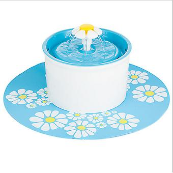 1.6l Fontána Tekoucí voda Cirkulace Pet Feeder Eu Blue