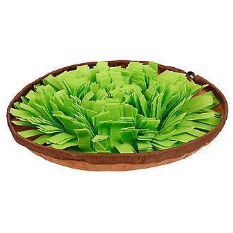Pet Bowl Carpet Dogs And Cats Consume Energy Puzzle Cover Slow Food Food Leak Anti-choking Bowl (green Grass)