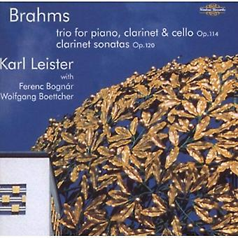 J. Brahms - Brahms: Trio for Piano, Clarinet & Cello; Clarinet Sonatas [CD] USA import