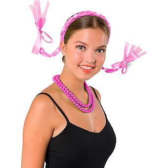 Tiara flätade flätor rosa flätor Gay Pride