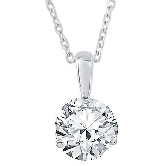 1/2 CT Solitaire Lab dyrket Diamantvedhæng fås i 14K og platin