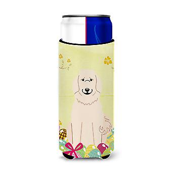 Easter Eggs Great Pyrenese Michelob Ultra Hugger for slim cans