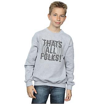 Looney Tunes garçons c'est tous les gens texte Sweatshirt