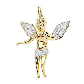 Premium Bling - 925 sterling hopea Angel riipus-gold