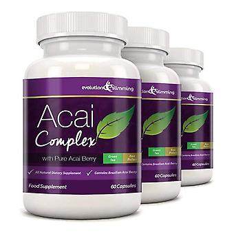 Acai Berry komplekse 455mg - 180 kapsler (3 måneders forsyning) - Acai Berry - Evolution slankende