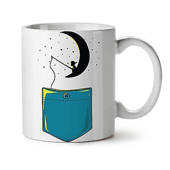 Moon Star Fishing Fashion NEW White Tea Coffee Ceramic Mug 11 oz | Wellcoda