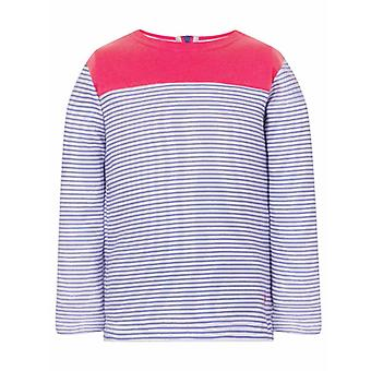 Lighthouse Daisy Girls Jersey Blush & Parma Violet Stripe